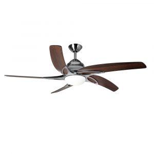 """FANTASIA VIPER PLUS 114758 44"""" nerezová ocel/tmavý dub Reverzní stropní ventilátor"""