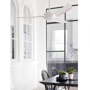 "LUCCI AIR AIRFUSION CAROLINA 211018 56"" bílá/bílá Reverzní stropní ventilátor"