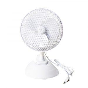 """E-LIGHT FJ15 6"""" bílá Stolní ventilátor s klipem 2 v 1"""