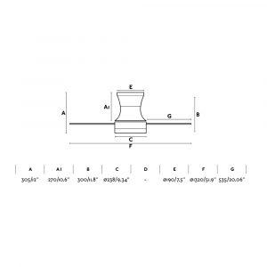 "FARO TONSAY 33385 52"" matný nikl/šedá/mahagon Reverzní stropní ventilátor"