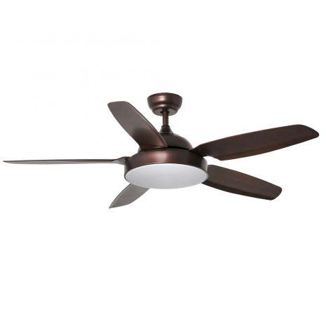 """FARO LEYTE LED 33780 54,3"""" hnědá/hnědá Reverzní stropní ventilátor"""