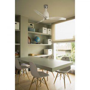"""FARO MINI ETERFAN 32020 50,4"""" bílá lesk/transparentní Reverzní stropní ventilátor"""