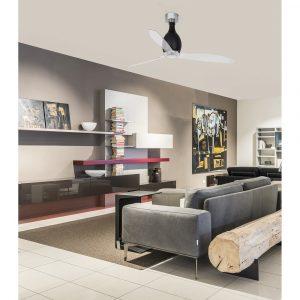 """FARO MINI ETERFAN 32026 50,4"""" černá lesk/transparentní Reverzní stropní ventilátor"""