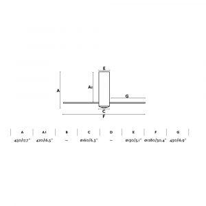 """FARO TUBE FAN 32034 50,4"""" matná bílá/transparentní Reverzní stropní ventilátor"""