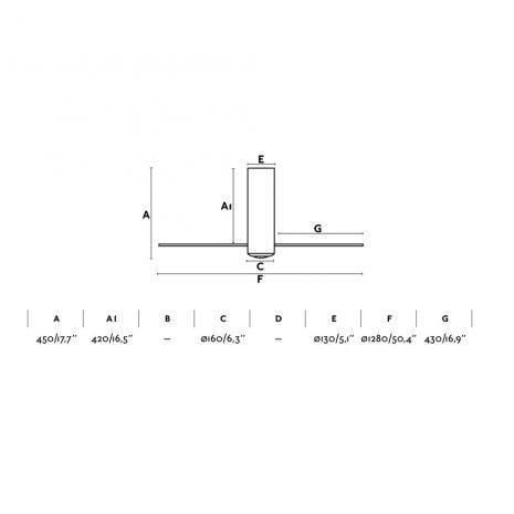 """FARO TUBE FAN 32060 50,4"""" matná černá/černá Reverzní stropní ventilátor"""