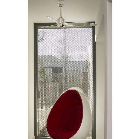 """FARO MINI ETERFAN 33382 50,4"""" chrom/transparentní Reverzní stropní ventilátor"""