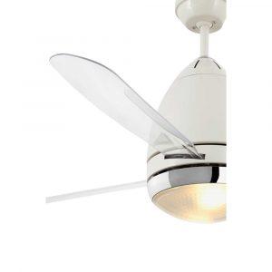 "FARO FARETTO 33389 52"" bílá/transparentní Reverzní stropní ventilátor"