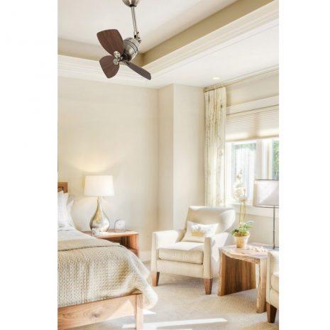 """FARO VEDRA 33450 18,1"""" starožitná mosaz/ořech Reverzní stropní ventilátor"""