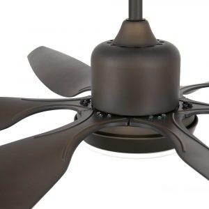 """FARO TILOS 33466 66,3"""" tmavě hnědá/tmavě hnědá Reverzní stropní ventilátor"""