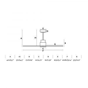 """FARO NASSAU 33487 50,4"""" bílá/bílá Reverzní stropní ventilátor"""