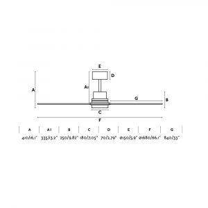 """FARO LANTAU-G LED 33505 66,1"""" matný nikl/borovice Reverzní stropní ventilátor"""