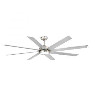 """FARO CENTURY 33554 65"""" matný nikl/šedá Reverzní stropní ventilátor"""