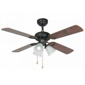 """FARO LISBOA 33102 42"""" hnědá/tmavě hnědá/mahagon Reverzní stropní ventilátor"""