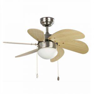 """FARO PALAO 33183 31,8"""" matný nikl/javor Reverzní stropní ventilátor"""