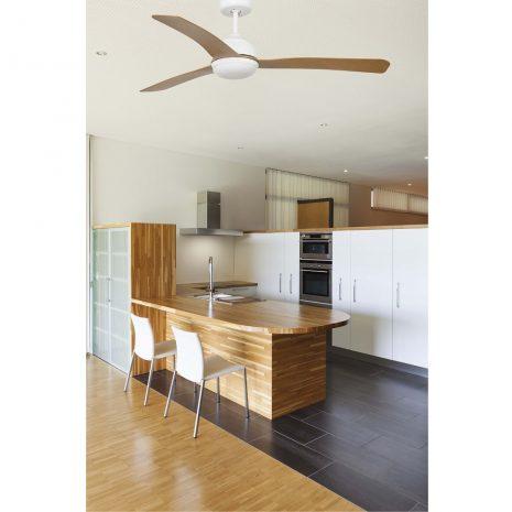 """FARO GRID 33341 52"""" bílá/světlé dřevo Reverzní stropní ventilátor"""