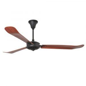 "FARO AOBA 33349 70,86"" černá/tmavé dřevo Reverzní stropní ventilátor"