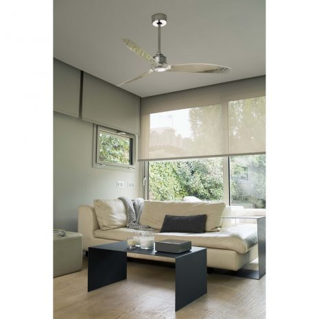 """FARO JUST FAN 33394 50,4"""" chrom/transparentní Reverzní stropní ventilátor"""