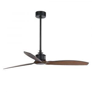 """FARO JUST FAN 33395 50,4"""" černá/tmavé dřevo Reverzní stropní ventilátor"""
