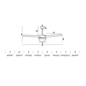 """FARO EASY 33415 41,3"""" bílá/bílá Reverzní stropní ventilátor"""