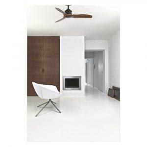 """FARO JUST FAN 33425 35,8"""" černá/tmavé dřevo Reverzní stropní ventilátor"""