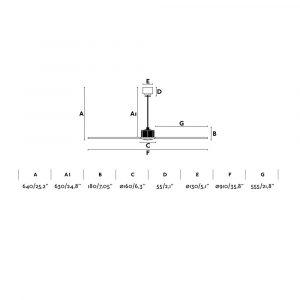 """FARO JUST FAN 33426 35,8"""" chrom/transparentní Reverzní stropní ventilátor"""