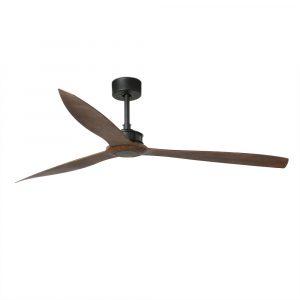 """FARO JUST FAN 33430 70"""" černá/tmavé dřevo Reverzní stropní ventilátor"""
