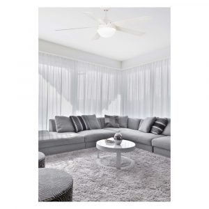 """FARO IZARO 33514 51,18"""" bílá/bílá Reverzní stropní ventilátor"""