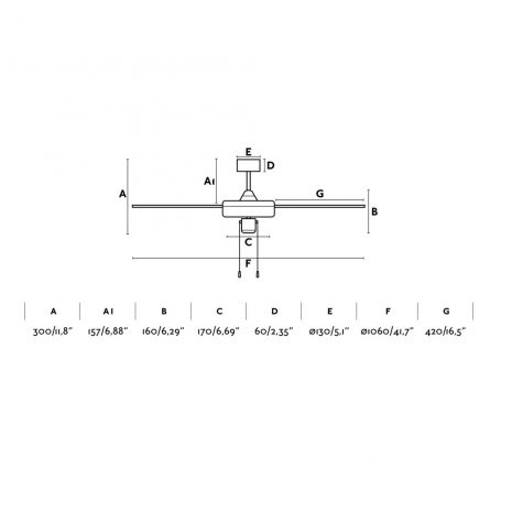 """FARO FACTORY 33611 41,7"""" hliník/šedá/černá Reverzní stropní ventilátor"""