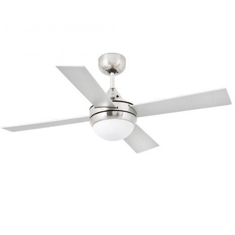 """FARO MINI ICARIA 33699 42"""" matný nikl/šedá/javor Reverzní stropní ventilátor"""