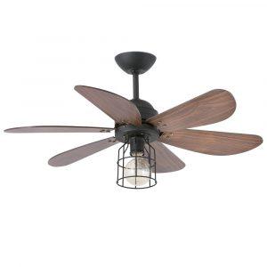 """FARO CHICAGO 33703 36"""" černá/ořech Stropní ventilátor"""