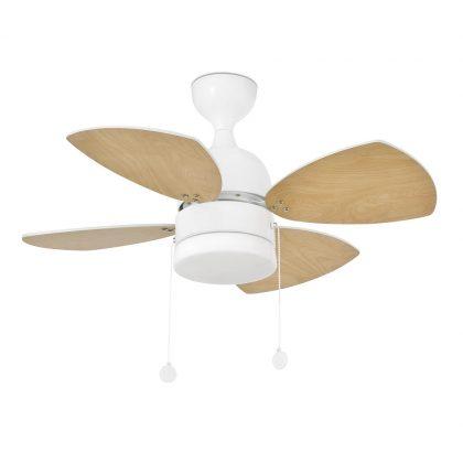 """FARO MEDITERRANEO 33704 32"""" bílá/bílá/javor Stropní ventilátor"""