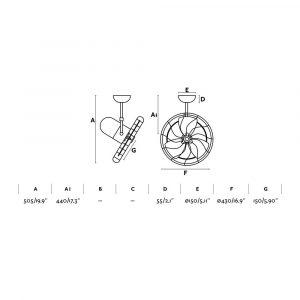 """FARO KEIKI 33720 16,9"""" bílá/bílá Reverzní stropní/nástěnný ventilátor"""