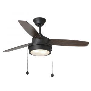 """FARO KOMODO 33723 52"""" černá/černá/vlašský ořech Reverzní stropní ventilátor"""