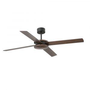 """FARO POLEA 33724 52"""" hnědá/hnědá/černá Reverzní stropní ventilátor"""