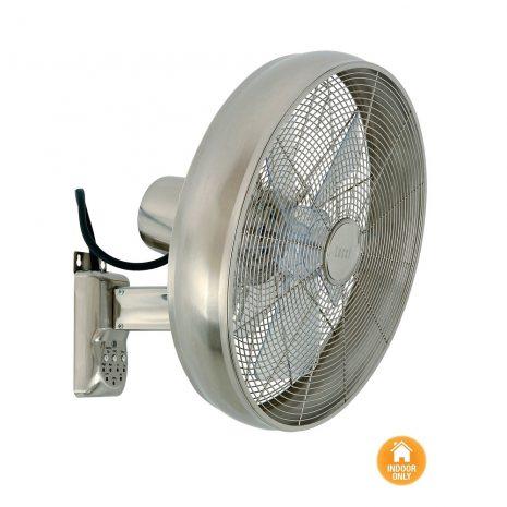 """LUCCI AIR BREEZE WALL FAN 213126EU 16"""" matný chrom Nástěnný ventilátor"""