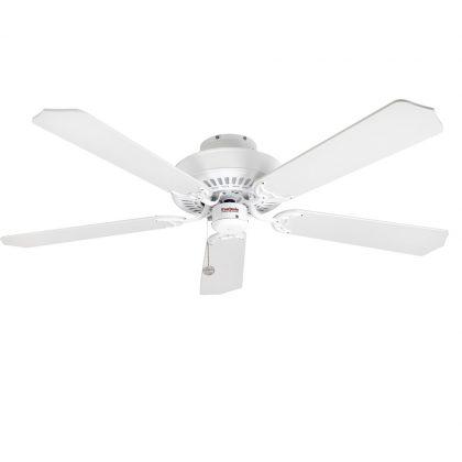 "FANTASIA CLASSIC 110033 52"" bílá lesk/bílá/bílá s třtinou Reverzní stropní ventilátor"