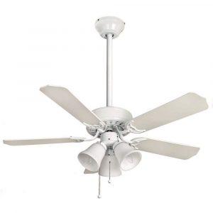 """FANTASIA BELAIRE COMBI 110477 42"""" bílá/bílá s třtinou/bílá Reverzní stropní ventilátor"""