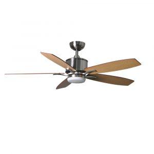 """FANTASIA PRIMA LED 117179 52"""" nikl/vlašský ořech/javor Reverzní stropní ventilátor"""