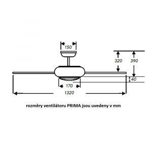 """FANTASIA PRIMA LED 117162 52"""" bílá/bílá Reverzní stropní ventilátor"""