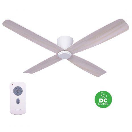"""BEACON LUCCI AIR FRASER 210986 52"""" bílá/dub Reverzní stropní ventilátor"""