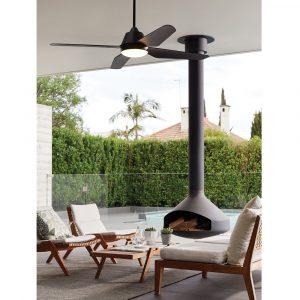 """BEACON LUCCI AIR AIRFUSION ARIA 212998 48"""" černá/černá Reverzní stropní ventilátor"""