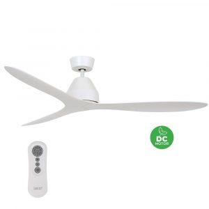 """BEACON LUCCI AIR WHITEHAVEN 213040 56"""" bílá/bílá Reverzní stropní ventilátor"""