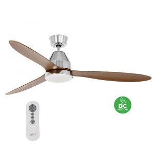 """BEACON LUCCI AIR WHITEHAVEN 213045 56"""" matný nikl/koa Reverzní stropní ventilátor"""