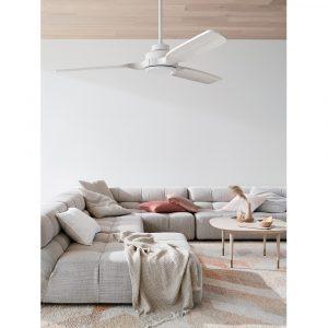 """BEACON LUCCI AIR SHOALHAVEN 213052 56"""" bílá/světlé dřevo Reverzní stropní ventilátor"""