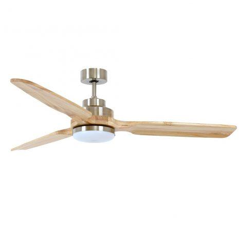 """BEACON LUCCI AIR SHOALHAVEN 213053 56"""" matný chrom/světlé dřevo Reverzní stropní ventilátor"""