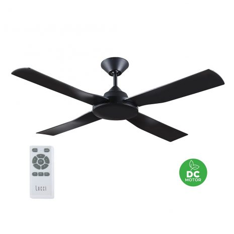 "BEACON LUCCI AIR BANKSIA 213136 48"" černá/černá Reverzní stropní ventilátor"