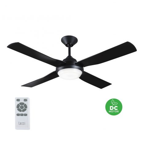 "BEACON LUCCI AIR BANKSIA 213139 48"" černá/černá Reverzní stropní ventilátor"