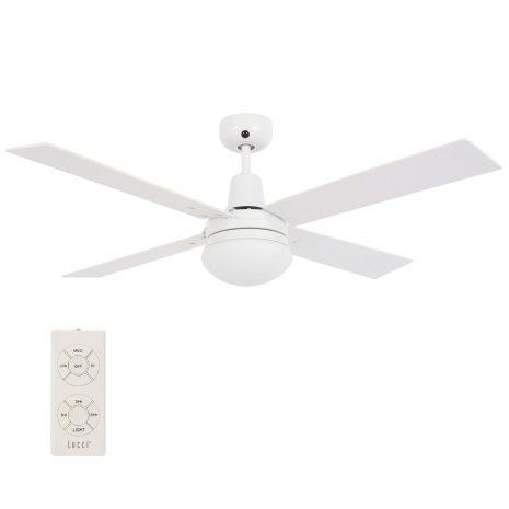 """BEACON LUCCI AIR AIRFUSION QUEST II 210339 48"""" bílá/bílá/dub Reverzní stropní ventilátor"""