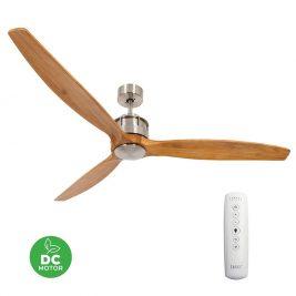 "LUCCI AIR AIRFUSION AKMANI 210506 60"" matný chrom/teak Reverzní stropní ventilátor"