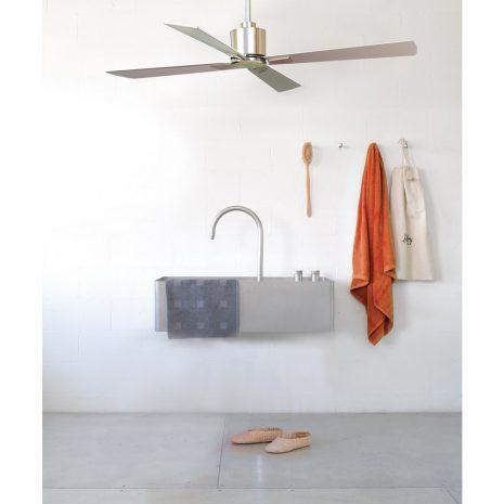 """BEACON LUCCI AIR AIRFUSION CLIMATE 210520 52"""" broušený chrom/stříbrná Reverzní stropní ventilátor"""